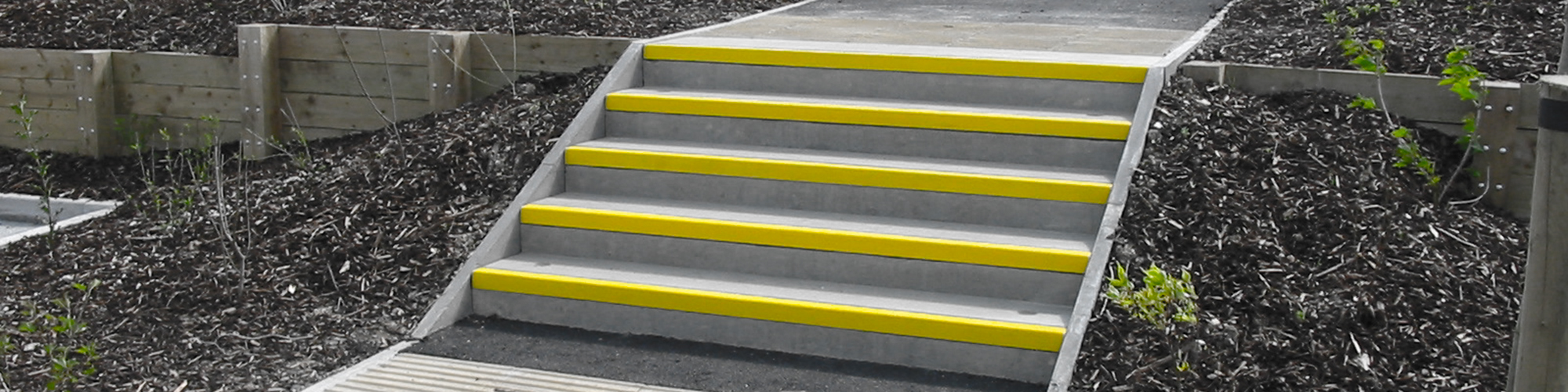 GRP anti-slip stair nosings and tread covers