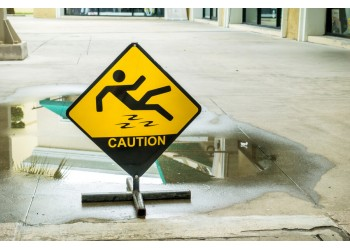 Oils, Chemicals, Water - What are the main reasons for slipping related accidents?
